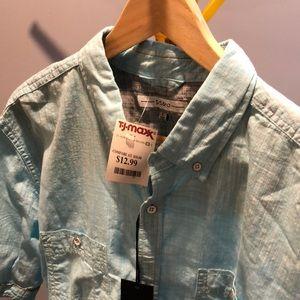 Other - Teal linen shirt